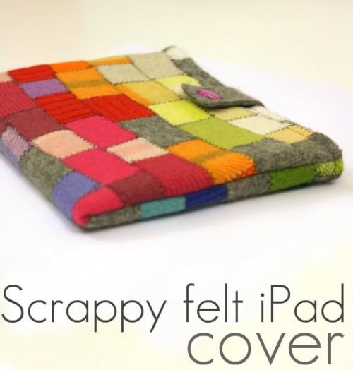 DIY Scrappy Felt iPad Cover