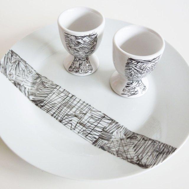 Diy Scribble Decorated Breakfast Set