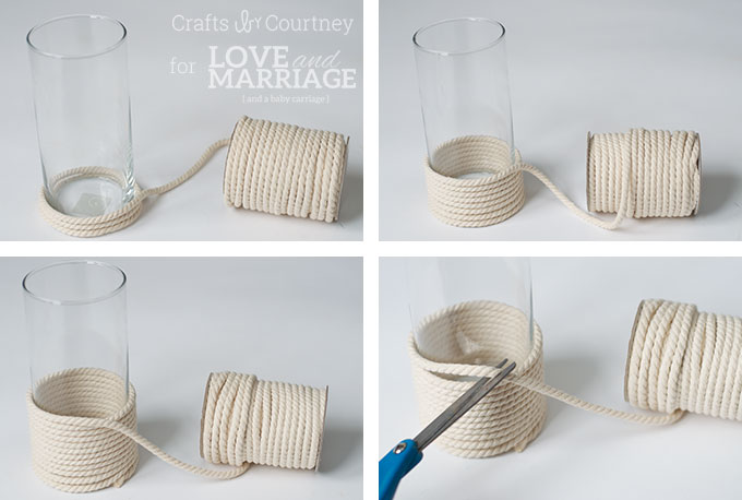 Picture Of diy sea inspired vase wrapped with rope  4