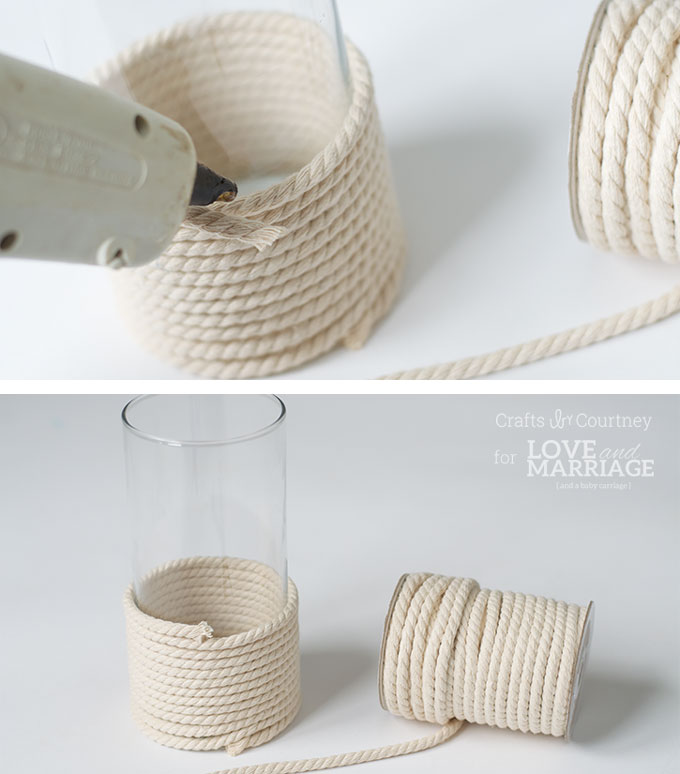Picture Of diy sea inspired vase wrapped with rope  5