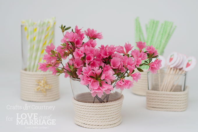 Picture Of diy sea inspired vase wrapped with rope  6
