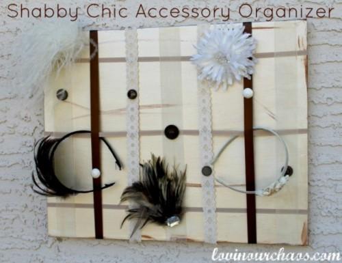 DIY Shabby Chic Head Accessories Holder