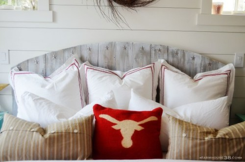 weathered wood headboard (via farmhouse38)