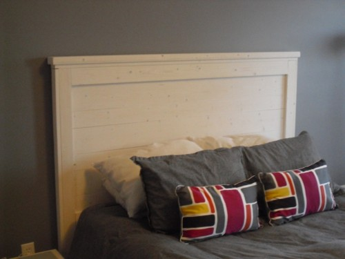 whitewashed queen headboard (via ana-white)