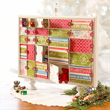 Diy Shadowbox Advent Calendar