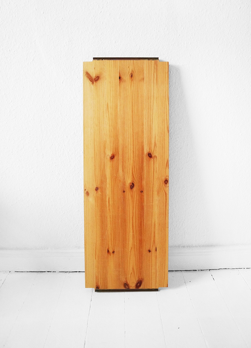 Picture Of diy shelf of a wooden board and a leather belt  2