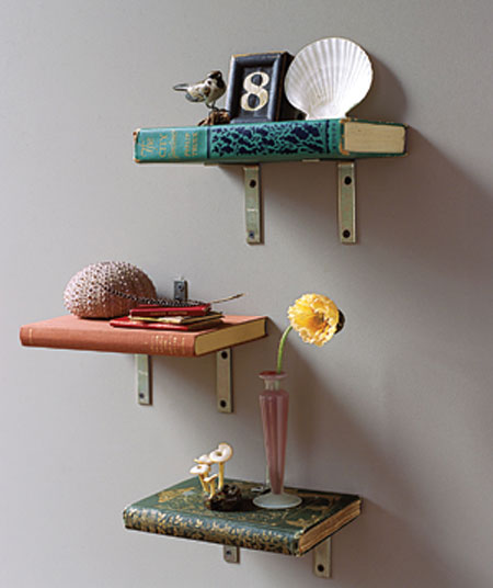 DIY Shelves Made Of Real Books | Shelterness