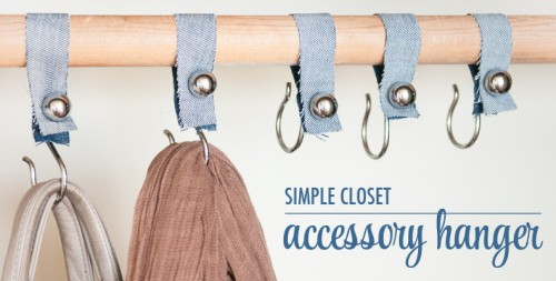 DIY Shower Hook Closet Organizers