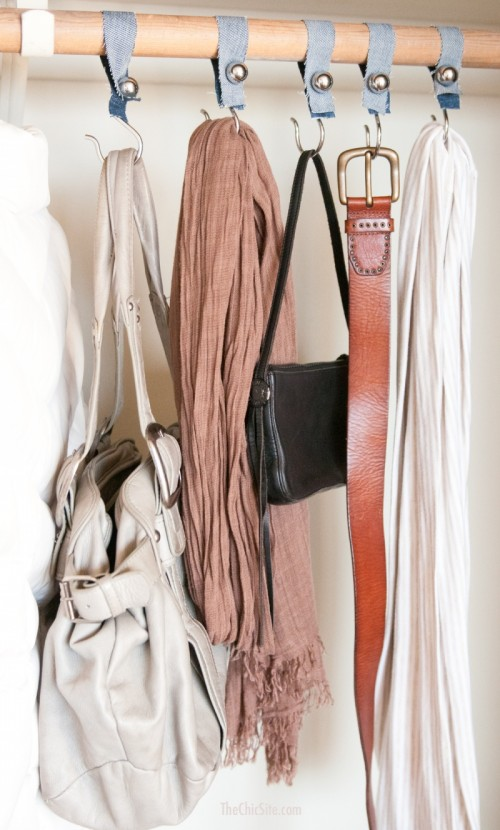 Organize Your Clothes 10 Creative And Effective Ways To Store And Hang Your Clothes: DIY Shower Hook Closet Organizers