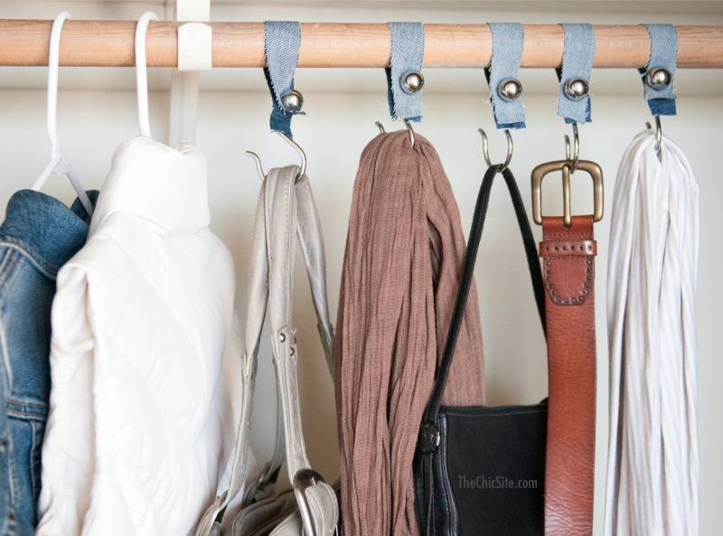 Diy Shower Hook Closet Organizers