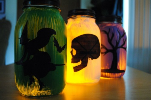 Diy Silhouette Hallowen Lanterns