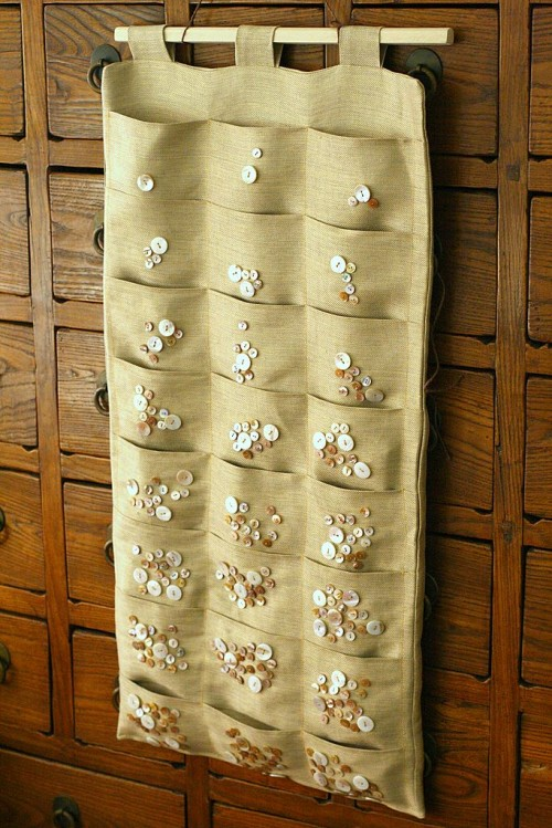 DIY Silk And Buttons Advent Calendar
