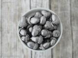 fall silver acorns