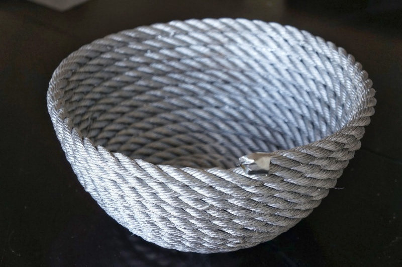 silver rope bowl