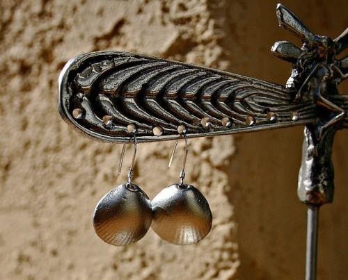 DIY Silver Sea Shell Earrings