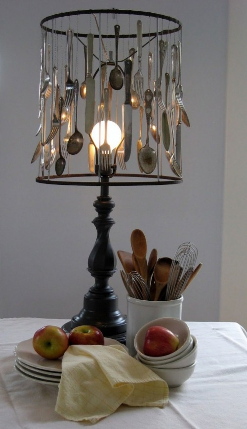 Diy Silverware Lamp