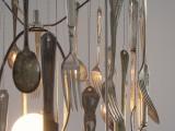 Diy Silverware Lamp
