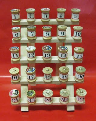 Diy Simple Spools Advent Calendar