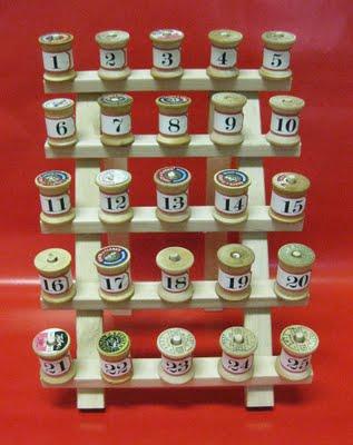 DIY Simple Spools Advent Calendar