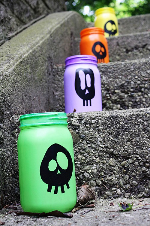 colorful skull luminaries (via craftsbyamanda)