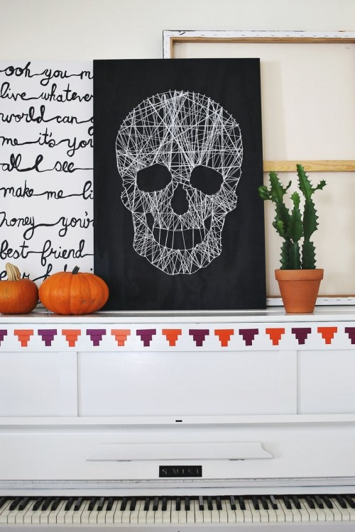 skull string art (via shelterness)