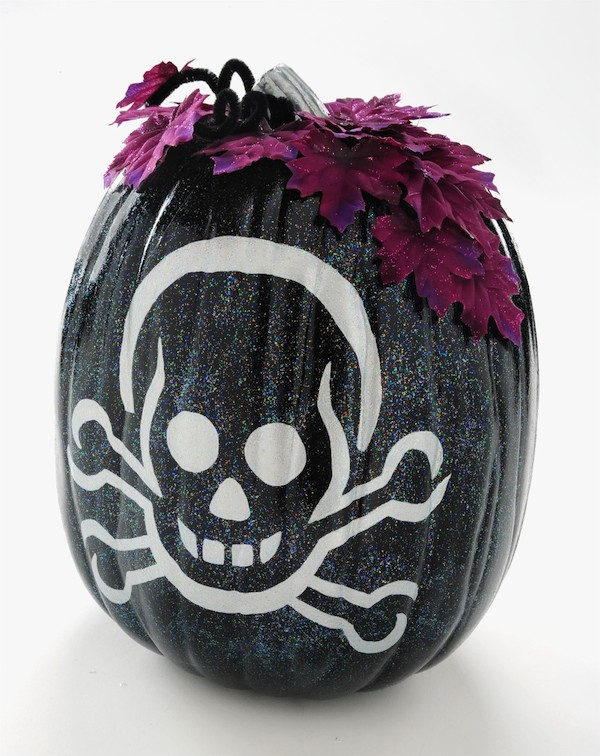sparkle skeleton pumpkin