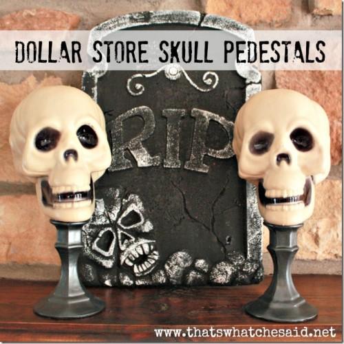dollar store skull pedestals (via thatswhatchesaid)