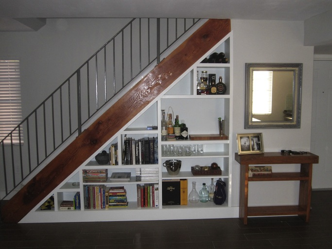 Picture Of Under Stairs Bookcase
