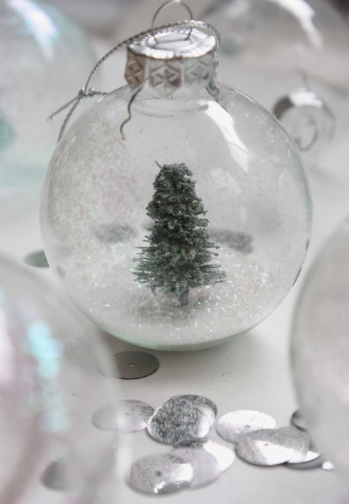 Diy Snow Globe Christmas Ornament
