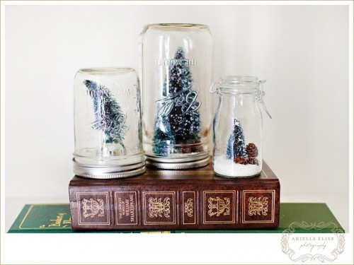 anthropologie snow globe DIY