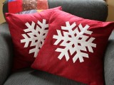 Diy Snowflakes Pillows