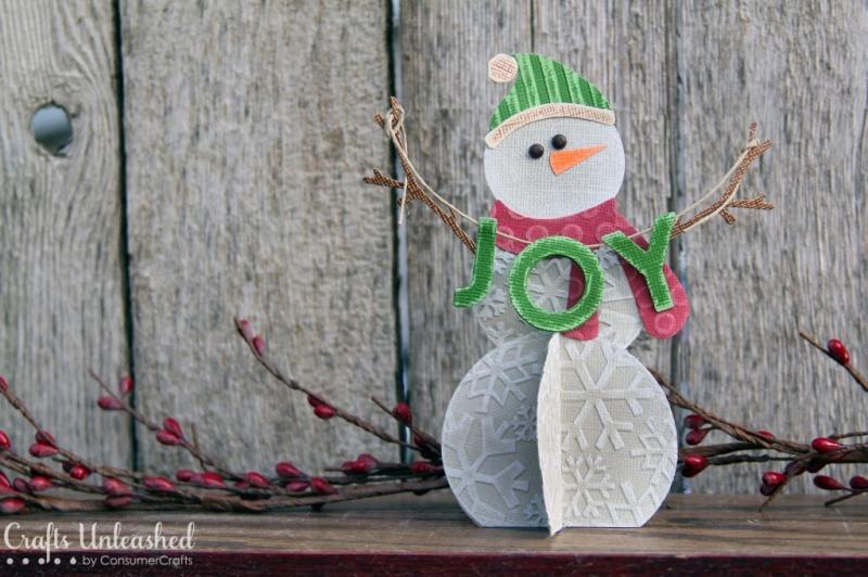 DIY paper snowman