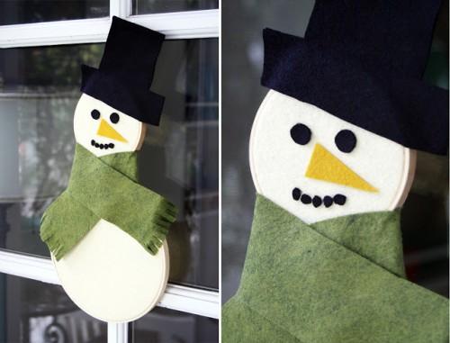 Embroidery snowman (via pleasenotepaper)