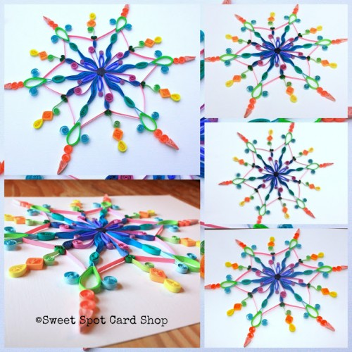 DIY colorful snowflake (via sweetspotcards)