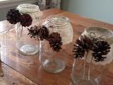 Diy Snowy Pinecone Candle Jars