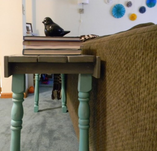 Diy Sofa Table Of Wood Scraps