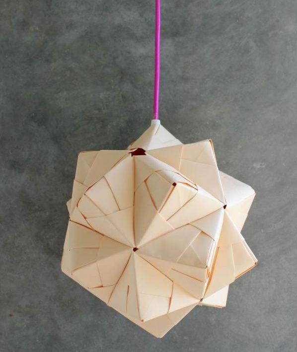 DIY Sonobe Ball Lamp From Paper