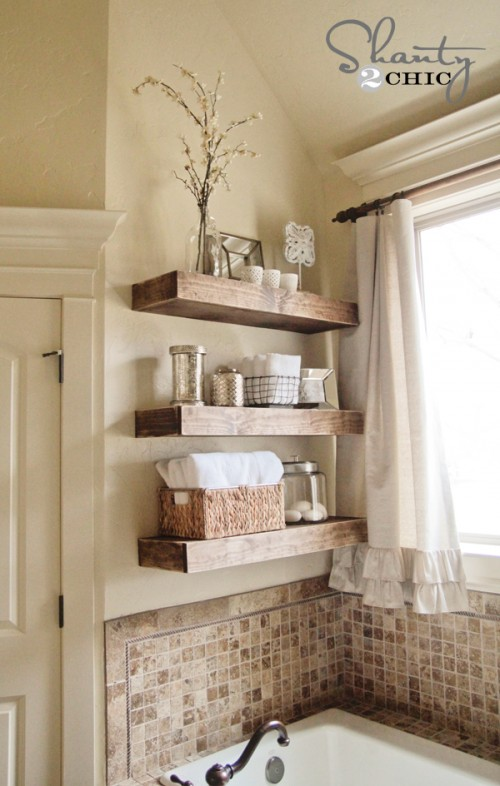 Small Bathroom Wall Storage 17 diy space-saving bathroom shelves and storage ideas - shelterness
