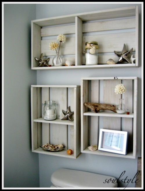 Bathroom Shelving Ideas Pictures : Diy space saving bathroom shelves and storage ideas