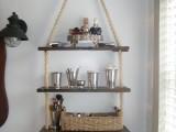 rope hanging shelf