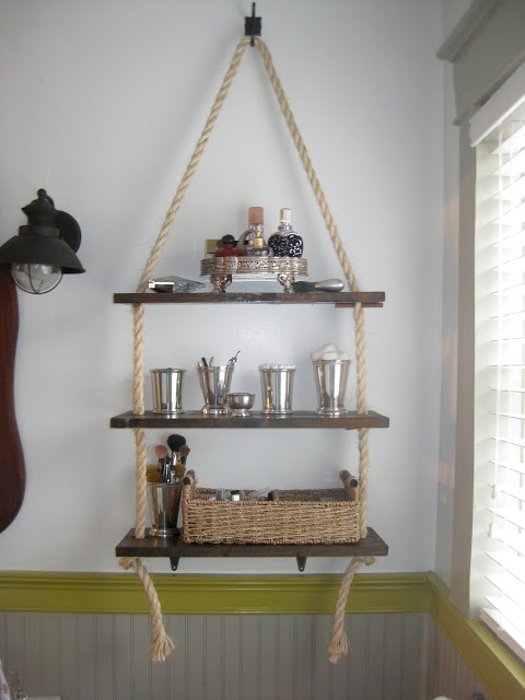 rope hanging shelf (via atthewalkerhouse)