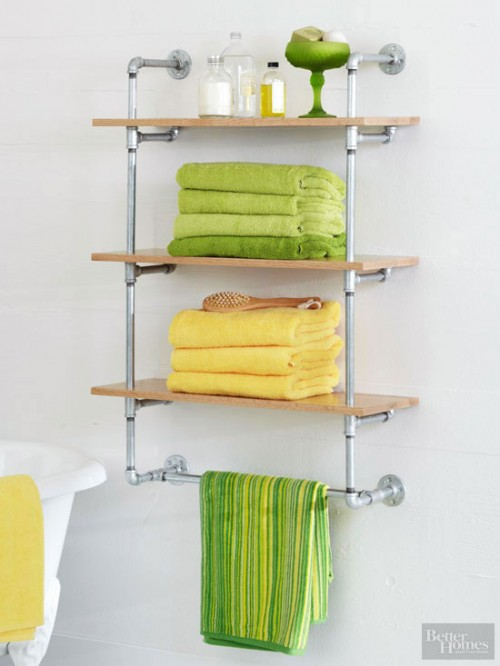 Diy Floating Shelves Above Toilet