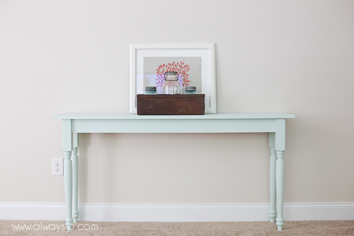 DIY Space-Saving Console Table