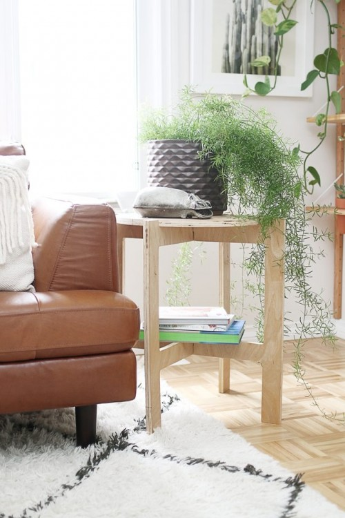 DIY Space-Saving Folding Side Table