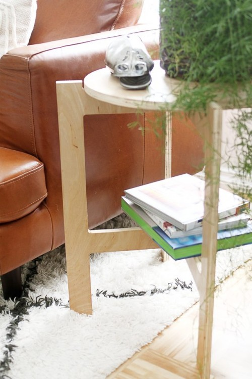 DIY Space Saving Folding Side Table