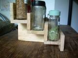 Diy Spice Rack Of Reclaimed Pallet