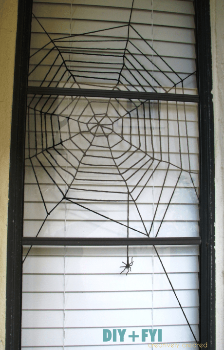Diy Spiderweb To Decorate Your Windows For Halloween