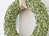 Diy Split Pea Wreath For Spring And Summer