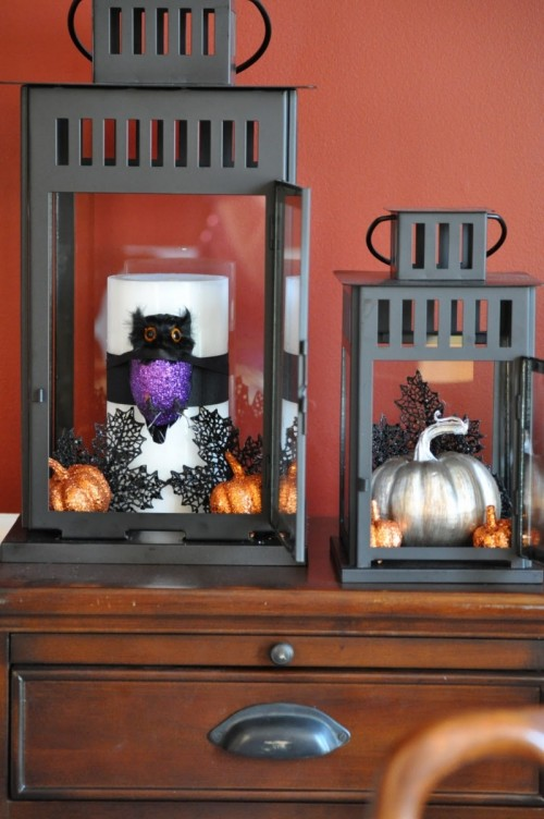 diy spooky hallowen lanterns - How To Make Halloween Lanterns