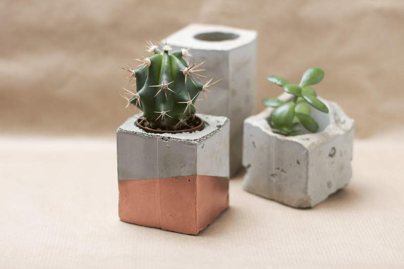 Diy concrete planters archives shelterness for How to clean off spray paint on concrete